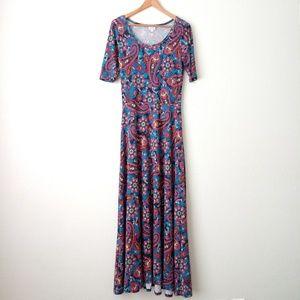 Lularoe Ana Paisley Print Maxi Dress Size Medium